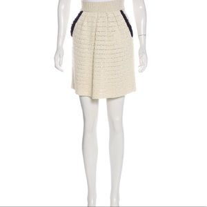 RED Valentino Crochet Mini Skirt